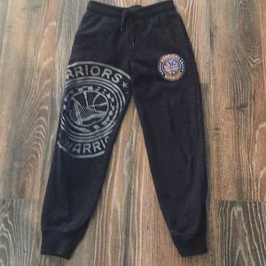 NBA WARRIORS jogger sweatpants with pockets